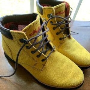 Vibram Yellow Lace-Up Boots
